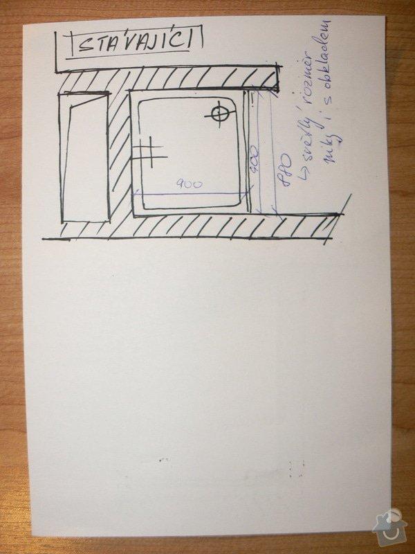 Rekonstrukce sprchového koutu: nacrt_stavajici