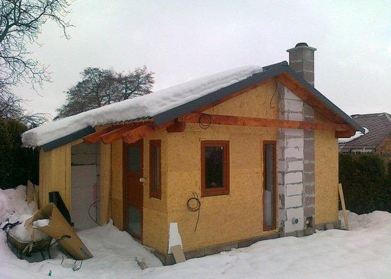 Zateplovací fasáda dřevostavby