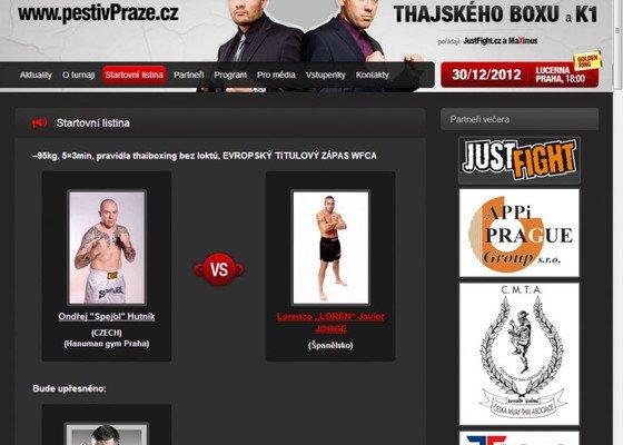 Tvorba www stránek pro galavečer thajského boxu a K1