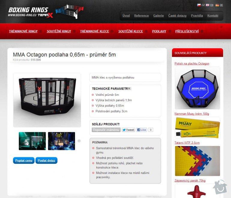 Tvorba www stránek pro prodej boxerských ringů a MMA klecí: 062-mma-octagon-podlaha-0-65m-prumer-5m-boxing-rings