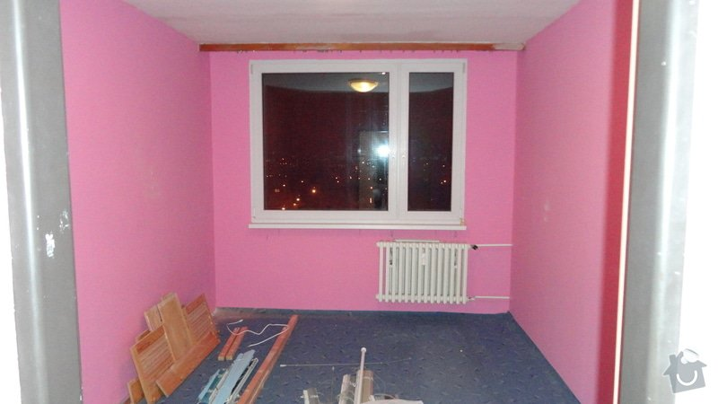 Rekonstrukce panelového bytu 3+1: Pokoj-1