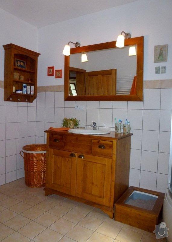 Masivní stylový nábytek: koupelna