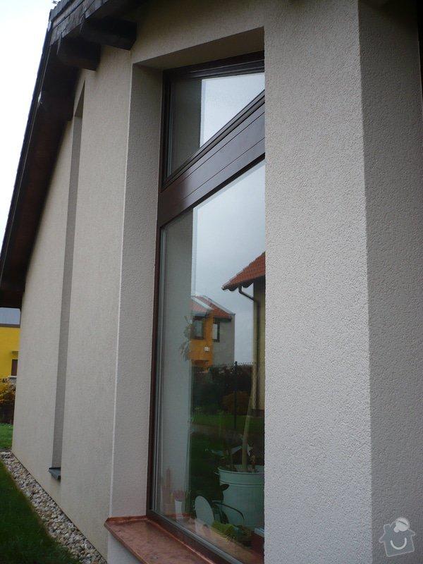 Zhotovení sádrokartonu, strukturová omítka a betonová dlažba.: P1080334