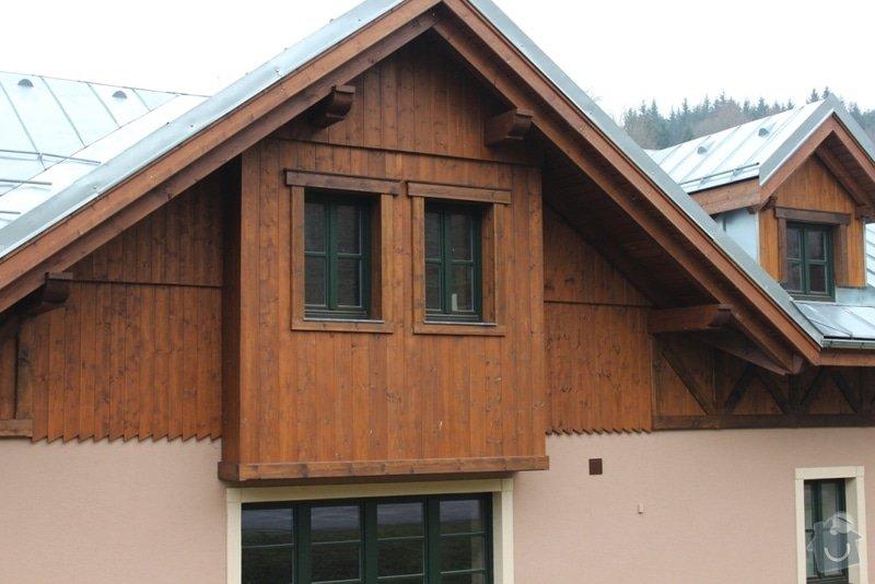 Balkony a obložení penzionu: IMG_5273