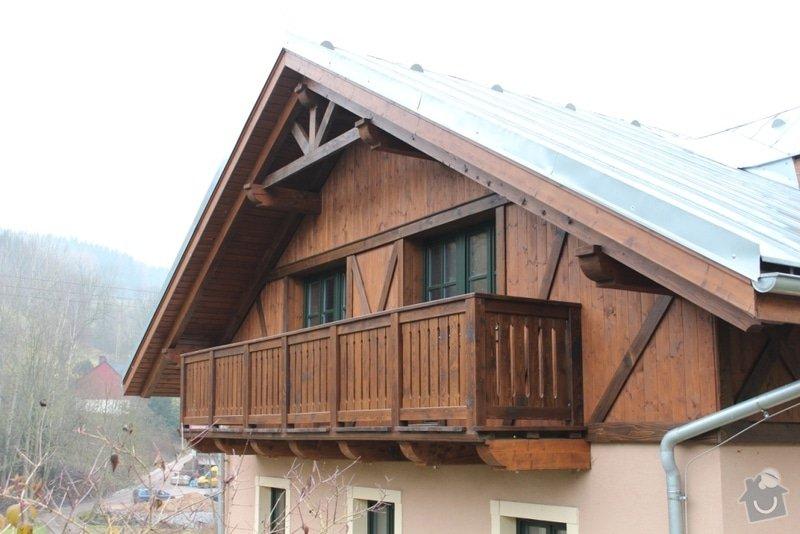 Balkony a obložení penzionu: IMG_5276