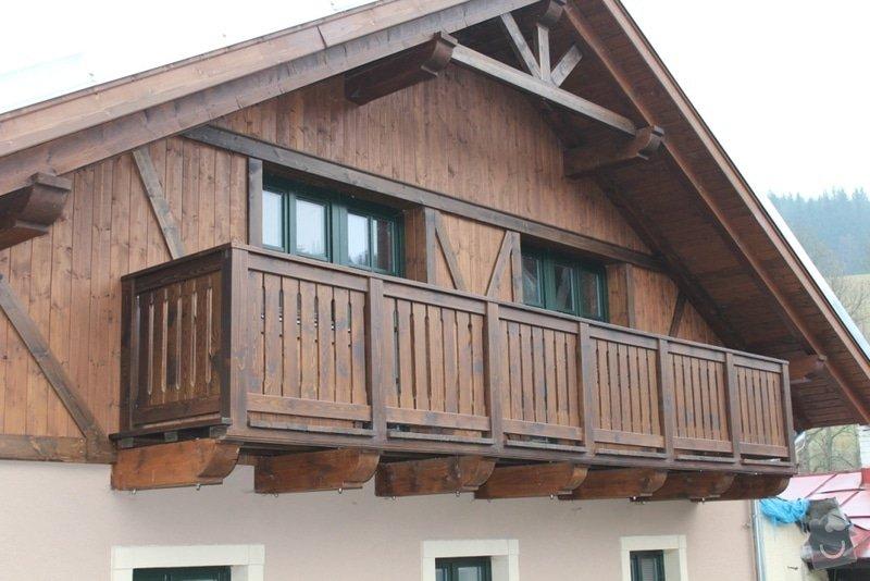 Balkony a obložení penzionu: IMG_5283