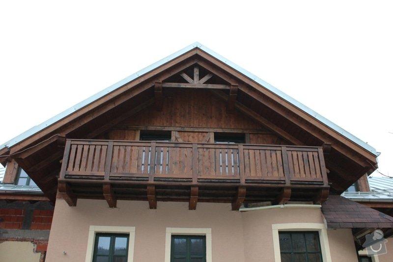 Balkony a obložení penzionu: IMG_5295