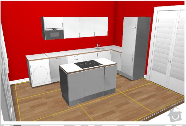 Stavba kuchyně z Ikei Praha 8: kuchyne
