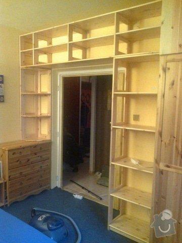 Knihovna - masiv, Nástavce na skříň: 20122012119