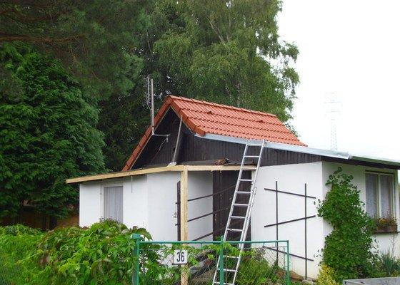 Střecha na chatě,pergola a montáž zahradního domku