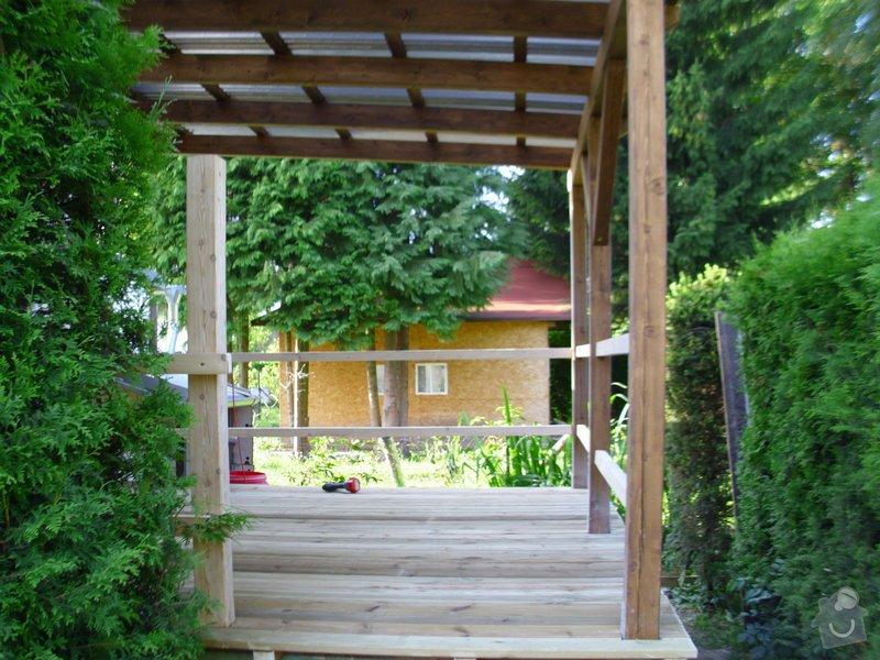 Střecha na chatě,pergola a montáž zahradního domku: IMG_1342