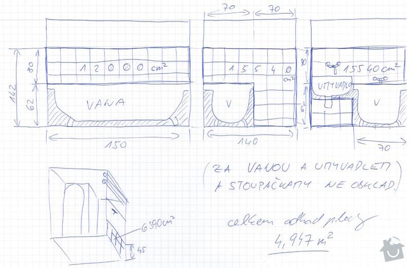 Obklad zdí dlaždicemi - malá koupelna, pouze do výšky 160 cm: Lukas_Novak_Koupelna_nakres_obklad_sten_dlazdicemi_zmenseny_nacrt