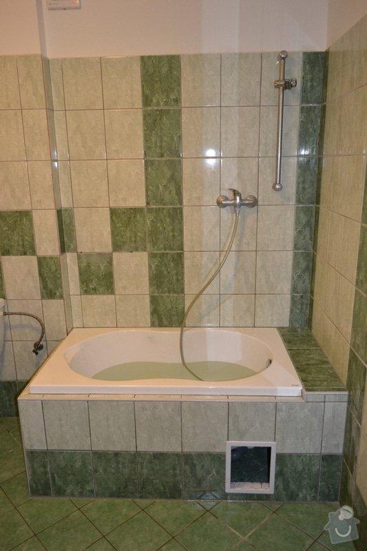 Instalace vany namísto sprchového koutu: po