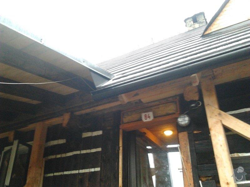 Pokrytí střechy verandy, instalace okapového systému, oprava střechy: 2012-12-28_11.59.53