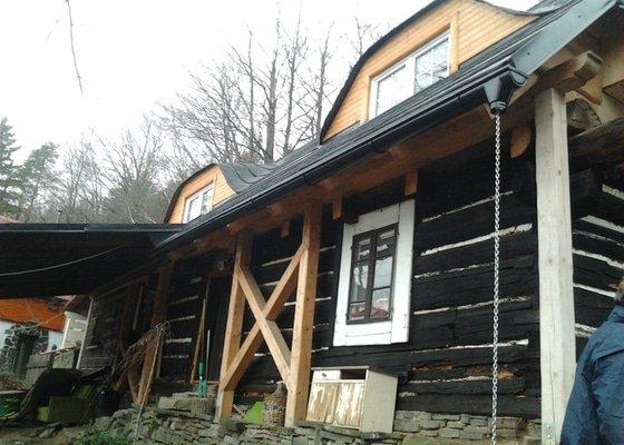 Pokrytí střechy verandy, instalace okapového systému, oprava střechy