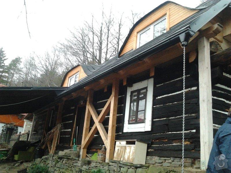Pokrytí střechy verandy, instalace okapového systému, oprava střechy: 2012-12-28_11.59.36