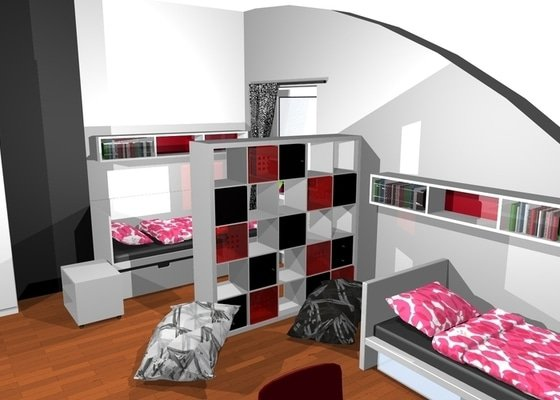 Návrh interiéru dětského pokoje v Plzni