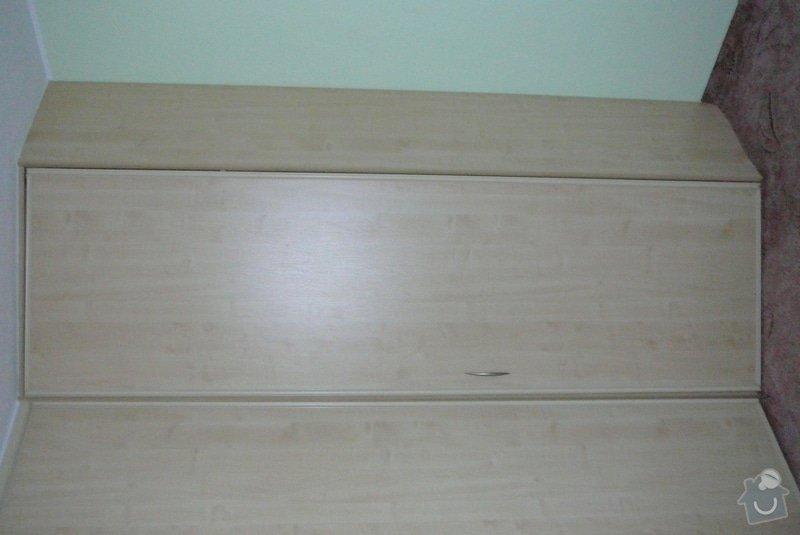 Rohová vestavěná skříň lamino: P1120684
