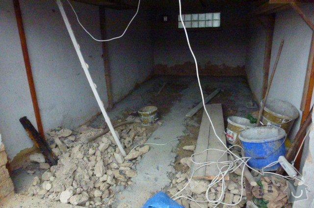 Oprava řadové garáže podlaha a omítky: P1040637