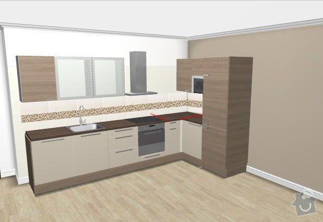 Montáž kuchyňské linky: rez_kuchyne