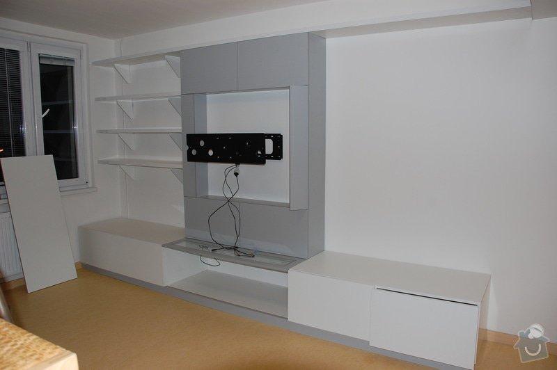 Atypická obývací stěna cca 400x250x60-30cm: 1301-NabytekObyvak-Fotka