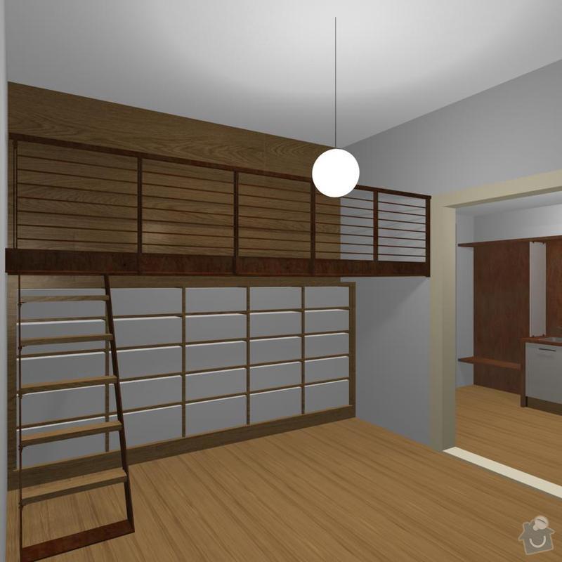Konstrukce kovového patra na spaní do činžovního domu: 02