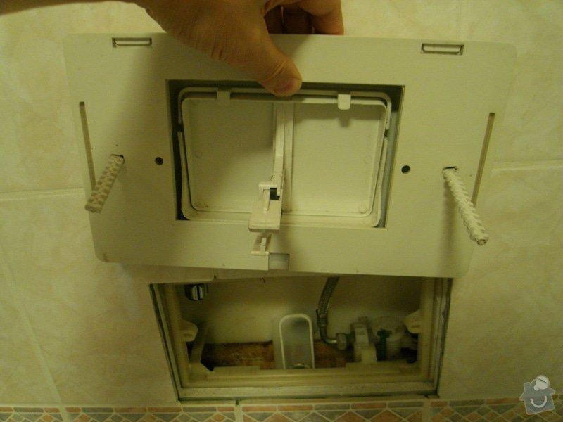 Oprava vestavěného splachovadla: SDC11035