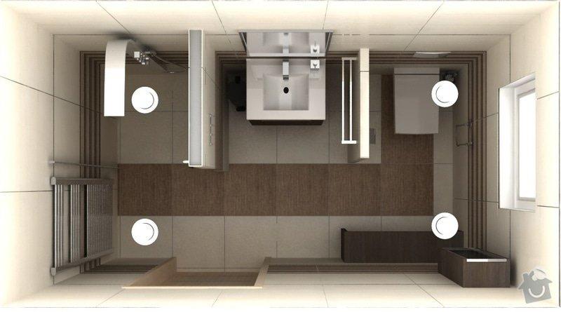 Návrh interiéru a exteriéru novostavby: KajlikoviKoupelna01_20_06top