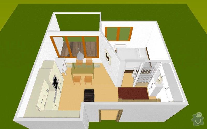SDK příčka (vč. úpravy elektrických rozvodů): martaskova_3Dmodel_3
