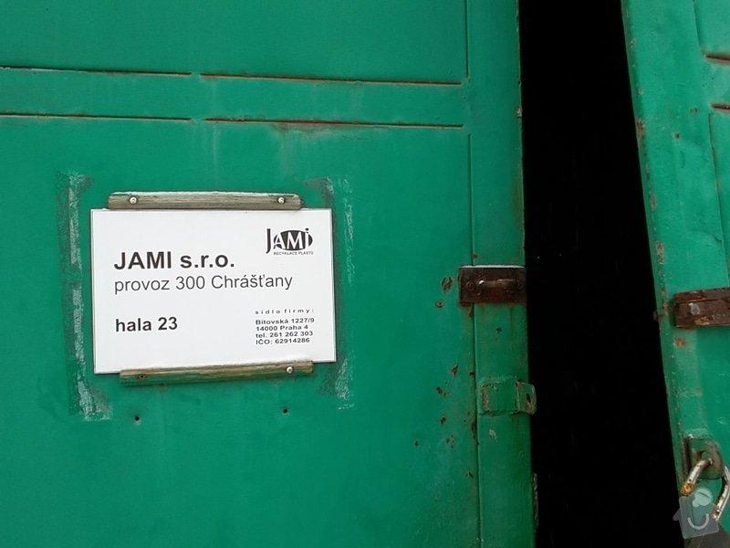 Plechová vrata na výrobní hale: SAM_1789