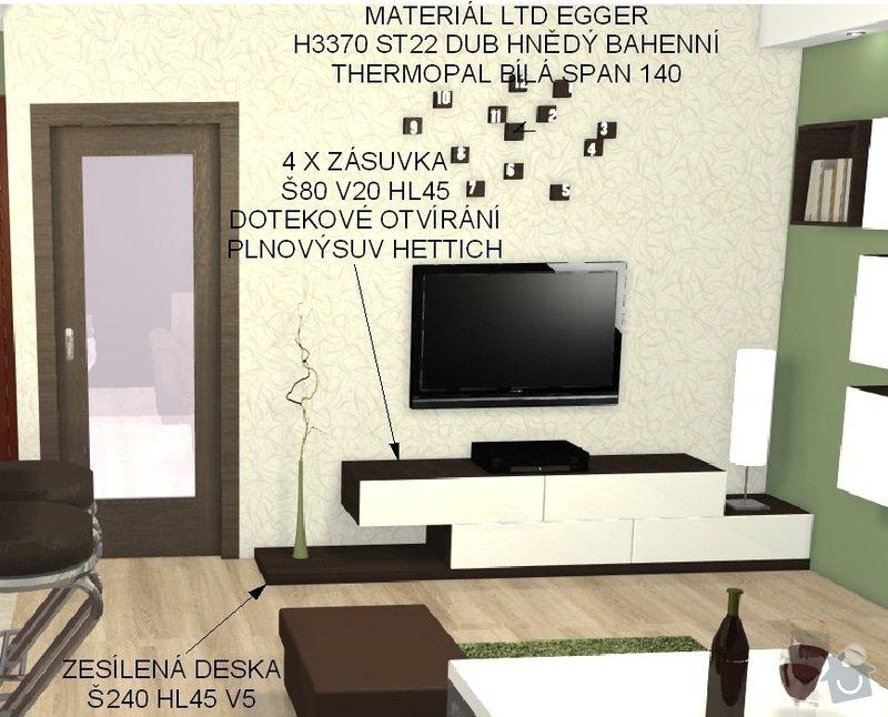 Obývací stěna - Mělník: obyvak