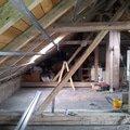 Montaze sadrokartonu rekonstrukce podkrovi suche podlahy s po podkrovi 5