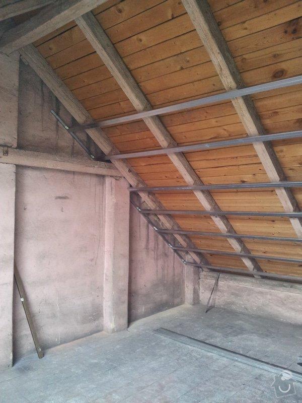 Montáže sádrokartonu, rekonstrukce podkroví, suché podlahy s podsypem Fermacell,výměna střešního okna, montáž poudra Eclisse pro posuvné dveře do SDK příčky.: Podkrovi_8