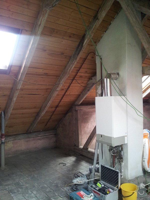 Montáže sádrokartonu, rekonstrukce podkroví, suché podlahy s podsypem Fermacell,výměna střešního okna, montáž poudra Eclisse pro posuvné dveře do SDK příčky.: Koupelna_WC