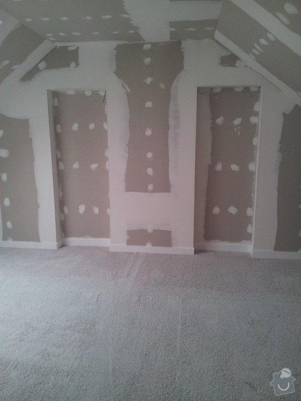 Montáže sádrokartonu, rekonstrukce podkroví, suché podlahy s podsypem Fermacell,výměna střešního okna, montáž poudra Eclisse pro posuvné dveře do SDK příčky.: Podkrovi_99
