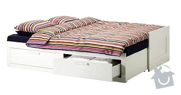 Rozkládací postel z masivu: postel