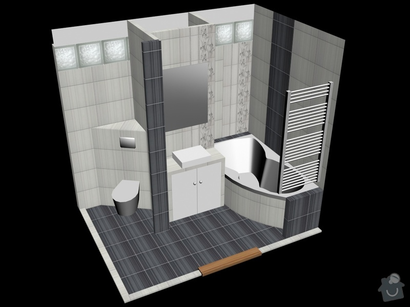 Rekonstrukce koupelny: m50