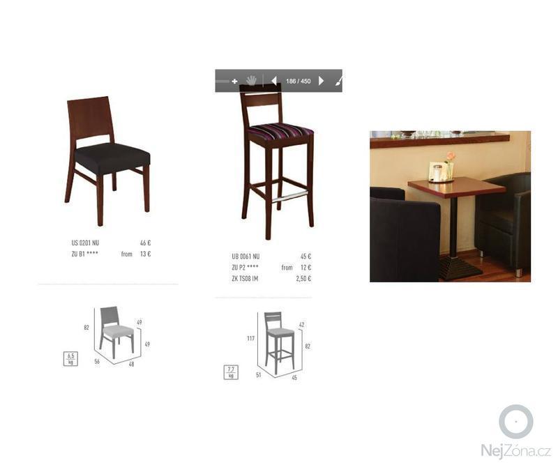 Restaurační lavice: zidle