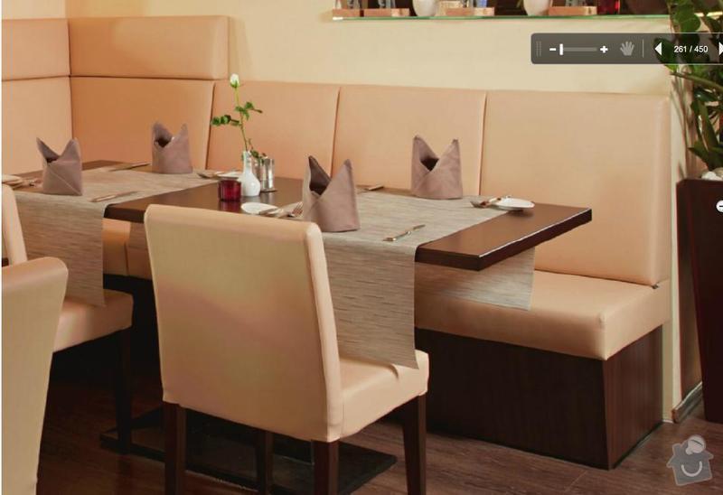 Restaurační lavice: lavice
