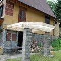 Stavba balkonu u chatky 3x3 5m jan rubek perstejn hruby okounov 04
