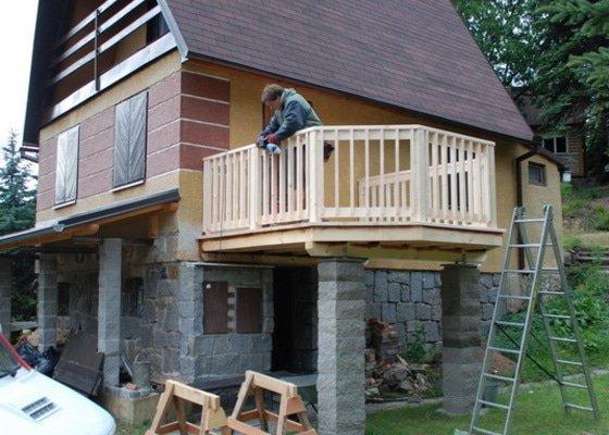 Stavba balkonu u chatky 3x3,5m