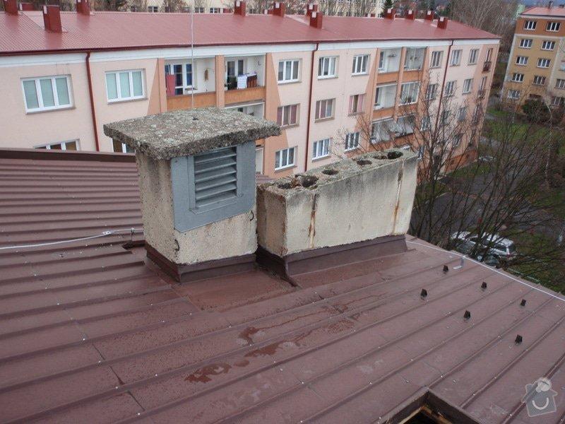Oprava komínů na panelovém domě: jan_rubek_kleizol_kadan_budovatelu_2011_klempirstvi_pokryvacstvi_01