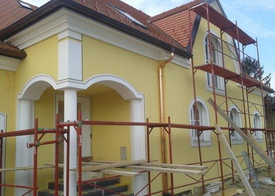 Zateplení domu, silikonová probarvená omítka
