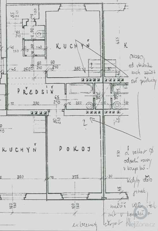 Rekonstrukce špajzu a bývalého záchodu na ložnici: plany-byt-muj