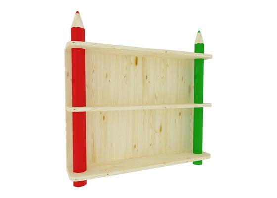 Dětská dřevěná knihovna