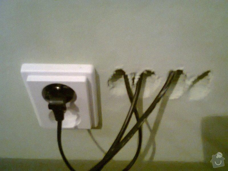 Příprava pro nástěnnou televizi.: kabely