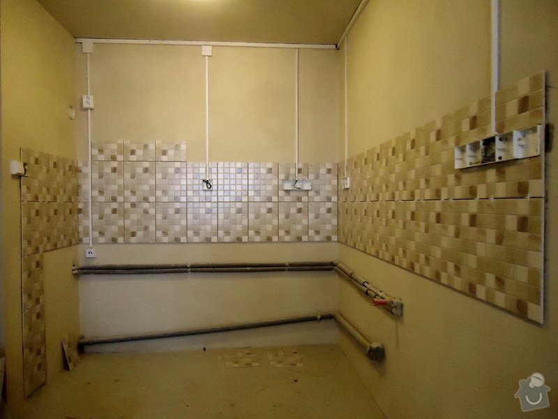 Obklad+dlažba wc a koupelna + dlažba v předsíni: 08