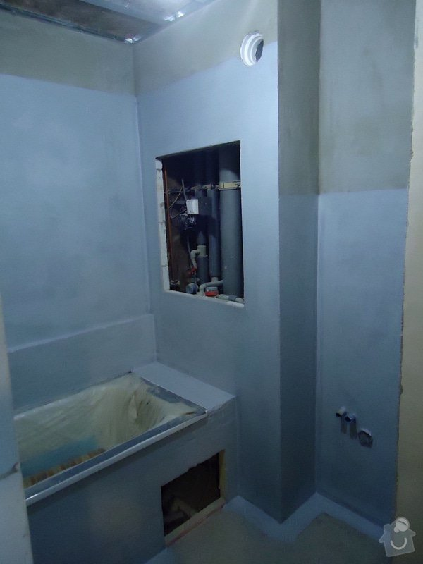 Obklad+dlažba wc a koupelna + dlažba v předsíni: 11