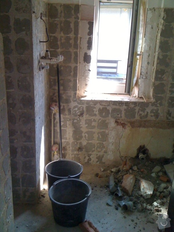 Rekostrukce koupelny s wc: 2
