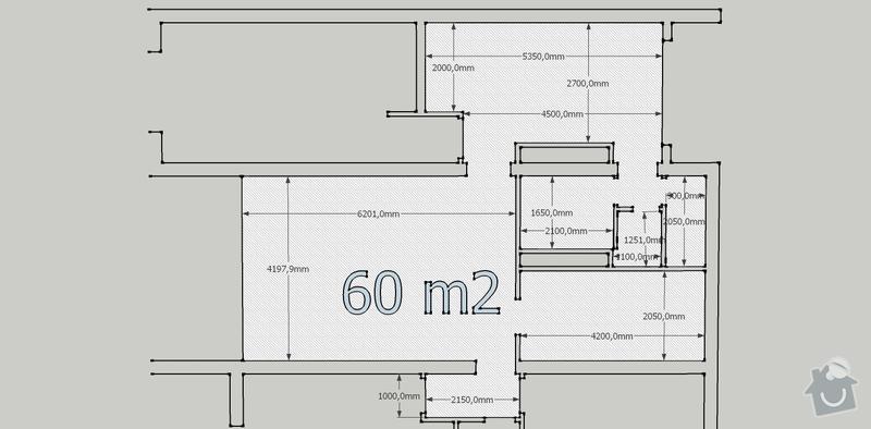 Sárokarton v bytě s rozlohou 60m2: sadrokarton
